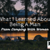 Being a man from camping