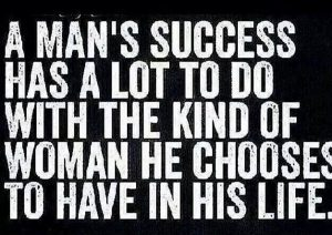 man's success