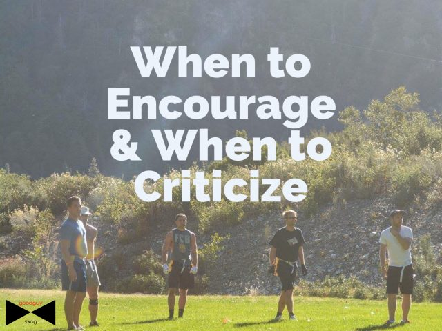 when to encourage