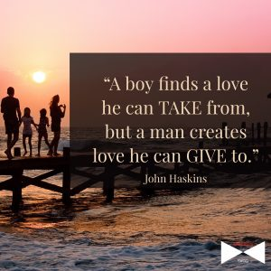 Man creates love he can give to