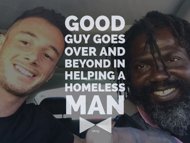 Helping a homeless man