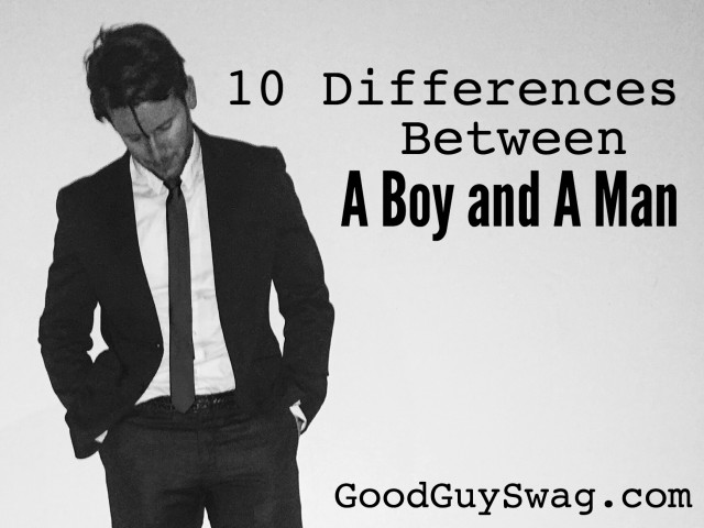 Differences between a boy and a man
