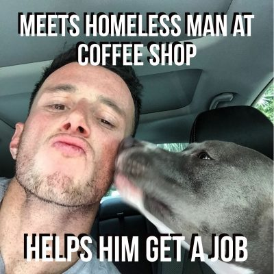 Good Guy Cares about homeless