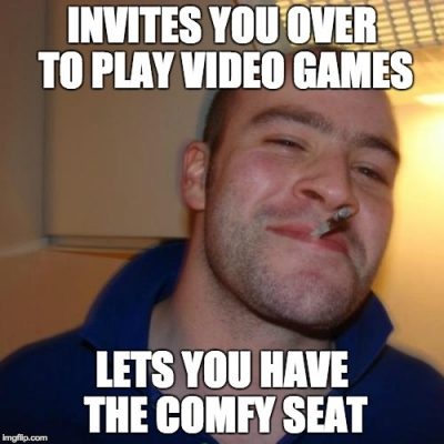 Good Guy gives up his seat