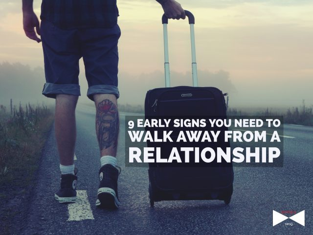 Walk away from a relationship